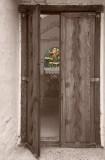 Mission, Santa Ines, Buellton, statue, Virgin Mary, open door, door, Tom Jewett, sanctuary