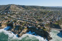 Aerial, California, coastline, Three Arch Bay