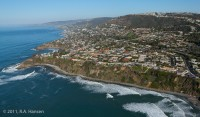 Aerial, California, coastline, Monarch Beach