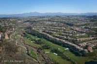 Aerial, California, coastline, Monarch Beach, golf