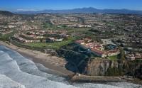 Aerial, California, coastline, Ritz Carleton