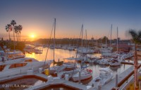 Newport Beach, Lido Isle, sunset, boats