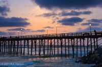 Oceanside, pier, sunset