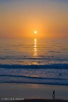 sunset, surfers, Dana Point, The Strand