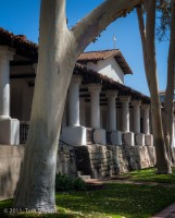 Mission, San Luis Obispo, colonnade, Tom Jewett, San Luis, facade
