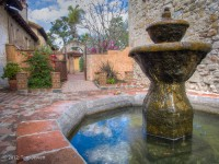 San Juan Capistrano, mission, fountain, courtyard, Tom Jewett, San Juan, church, bells