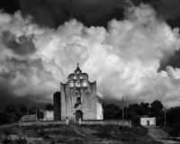 yucatan, quintana roo, mission, maya, franciscan, church, clouds