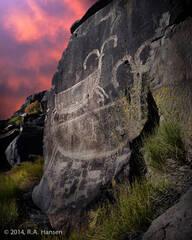 Big Petroglyph Canyon #29, Nightfall