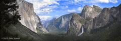 Yosemite, panorama, Bridalveil Fall, Tunnel View, Tom Jewett