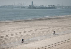 Long Beach, winter, bicyclists, Port of Long Beach, Tom Jewett
