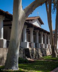 Mission, San Luis Obispo, colonnade, Tom Jewett, San Luis, facade