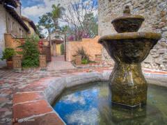 San Juan Capistrano, mission, fountain, courtyard, Tom Jewett, San Juan, church, bells