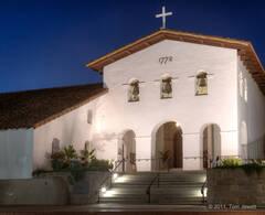 Night Facade, Mission San Luis Obispo
