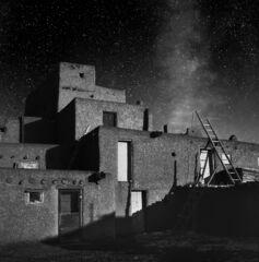 Full Moon and stars, Taos Pueblo