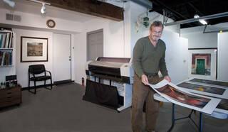 Robert Hansen Working in his Studio