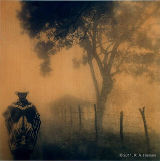 Figure in Fog, Southern Mexico