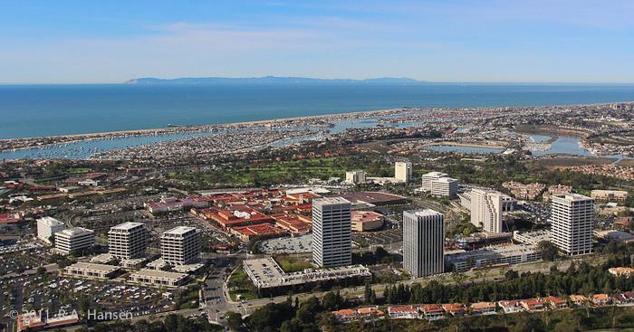 Aerial Newport Beach Catalina Fashion Island Photo