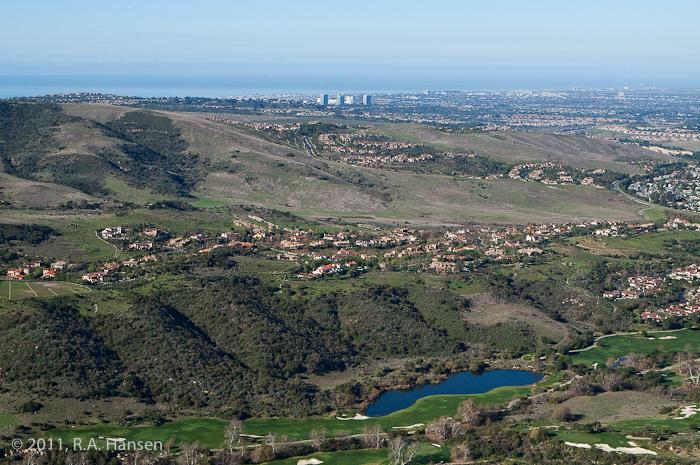Aerial, Shady Canyon, California, photo