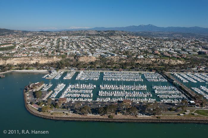 Aerial, California, coastline, Dana Point, harbor, photo