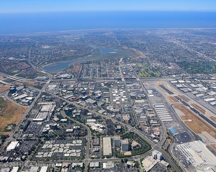 Aerial, Irvine, Back Bay, John Wayne Airport, photo