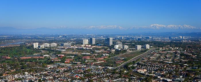 Aerial, California, Irvine, mountains, skyline, photo