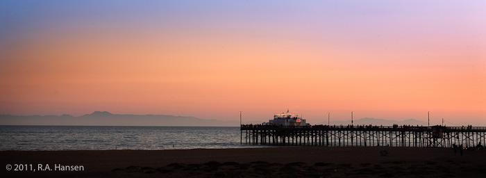 Newport Beach, Catalina, sunset, pier, photo