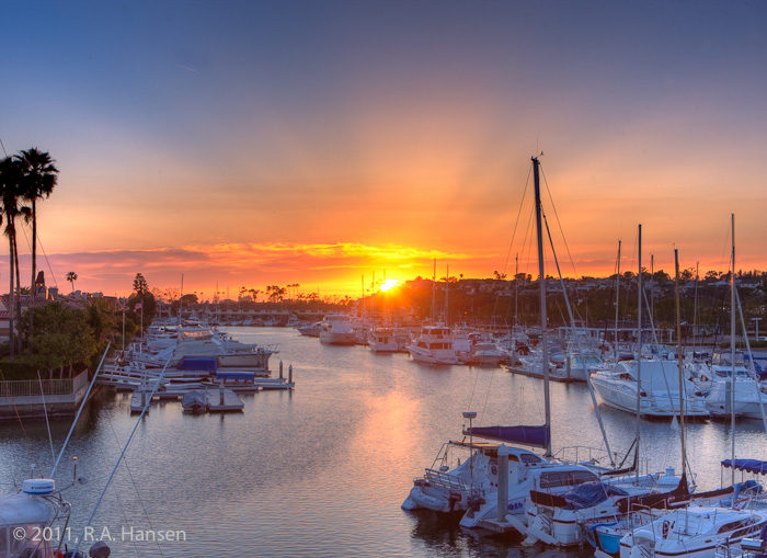 Newport Beach, Lido Isle, sunset, boats, photo