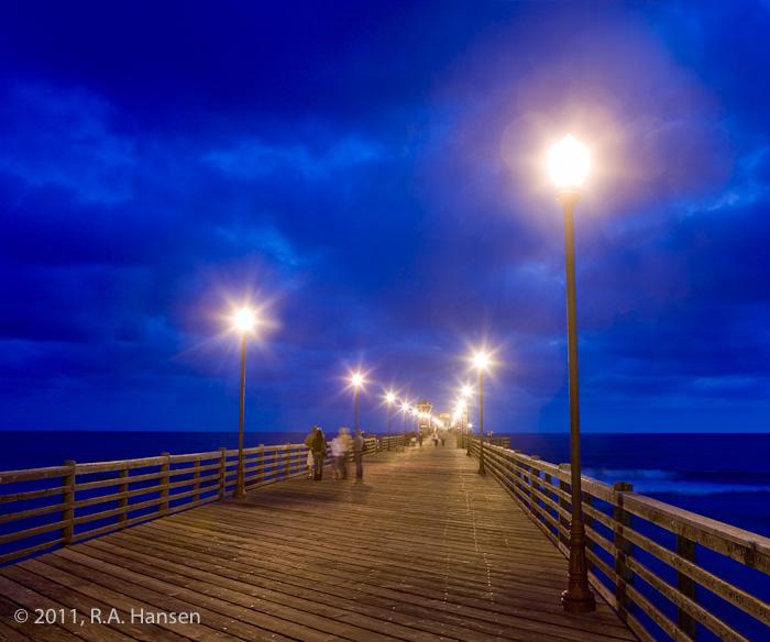 Oceanside, pier, night, photo