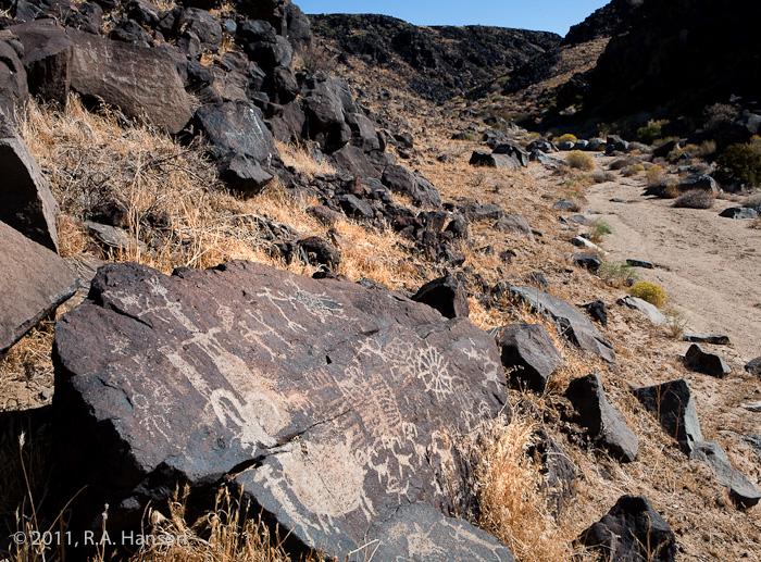 Rock art panel #6, Big Petroglyph Canyon