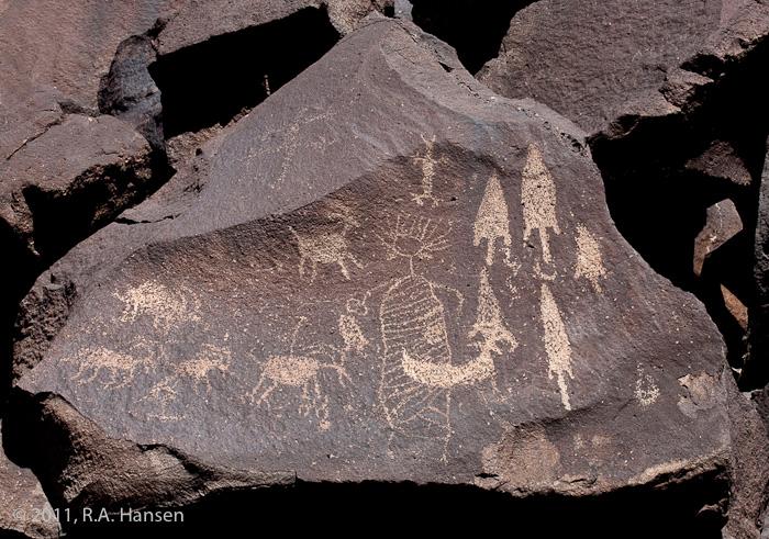 Rock art panel #7, Sheep Canyon
