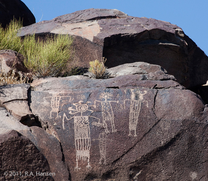 Rock art panel #8, Little Petroglyph Canyon