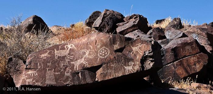 Rock art panel #9, Little Petroglyph Canyon
