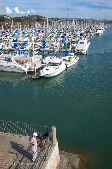 Dana Point, fisherman, harbor, photo