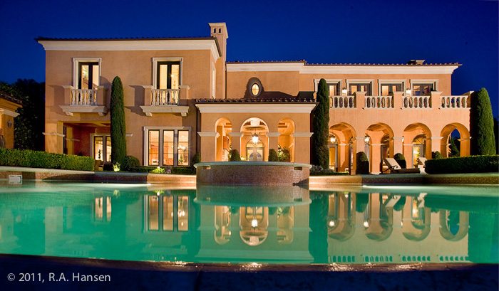 Pelican Ridge, residence, pool, evening, Newport Coast, photo