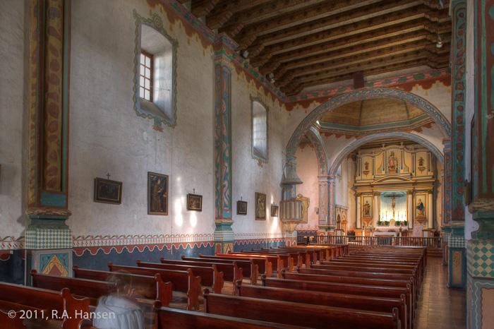 Mission, San Luis Rey, interior, San Luis, photo