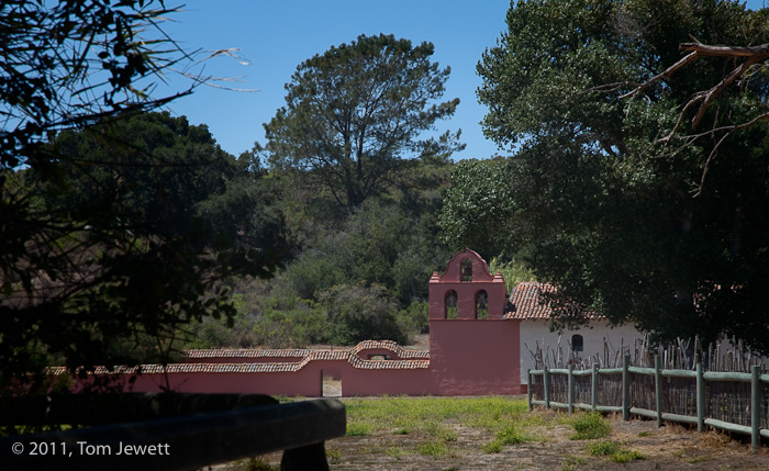 View from footbridge -- La Purisima is the only one of the missions to be managed as a California State Historical Park. There...
