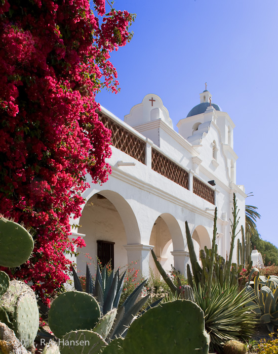 Mission, San Luis Rey, facade, San Luis, San Diego, church, photo