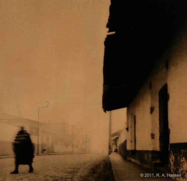 mexico, brown tone, fog, street scenes