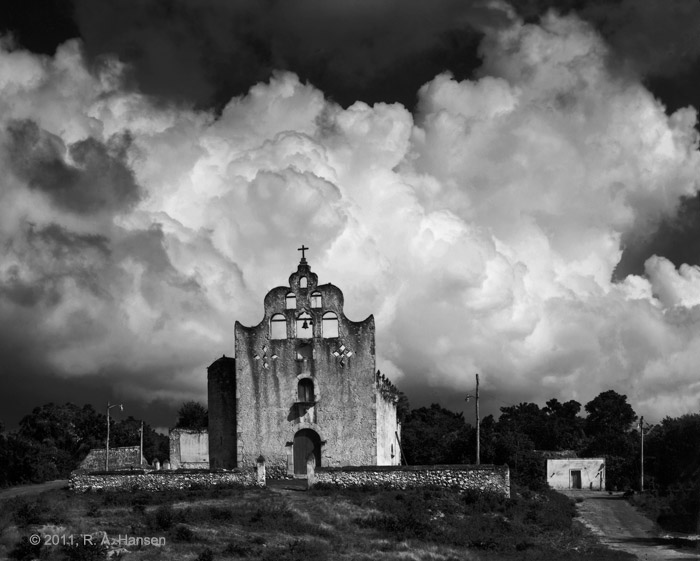 yucatan, quintana roo, mission, maya, franciscan, church, clouds, photo